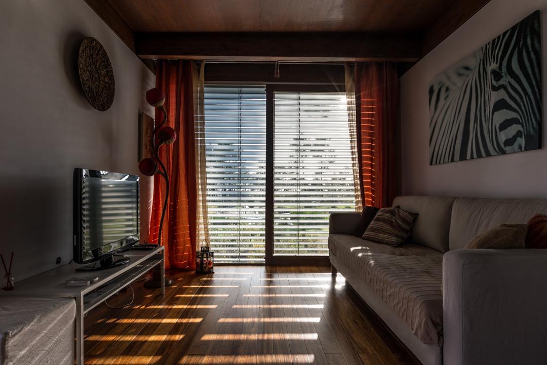 Sala de estar de bungalow en Cocoon Eco Design Lodges