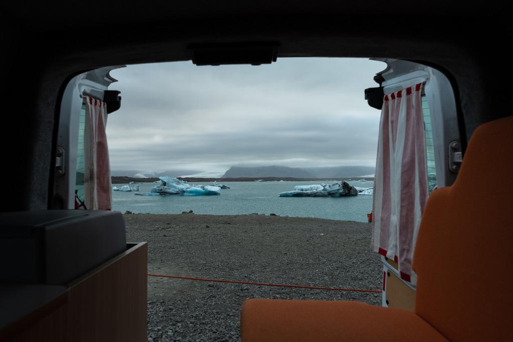 Glaciar Vatnajökull desde la furgoneta