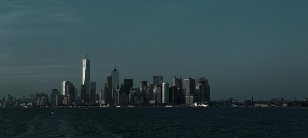 Skyline Nueva York hora azul