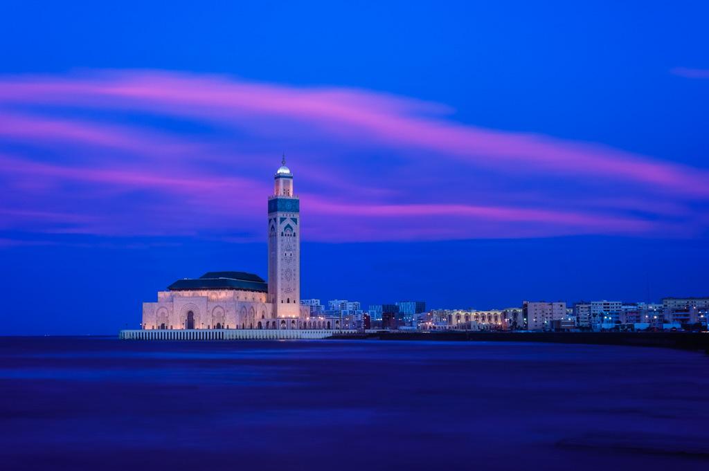 Hora azul Mezquita Hassan II Casablanca