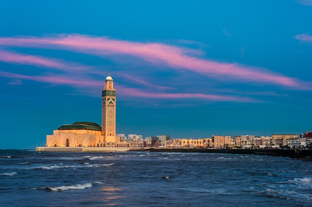 Mezquita Hassan II, hora mágica