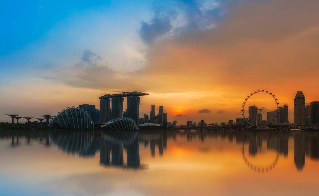 Hora Dorada Skyline Singapur