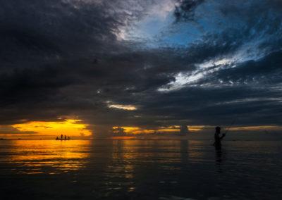 Playa de Tailandia hora dorada