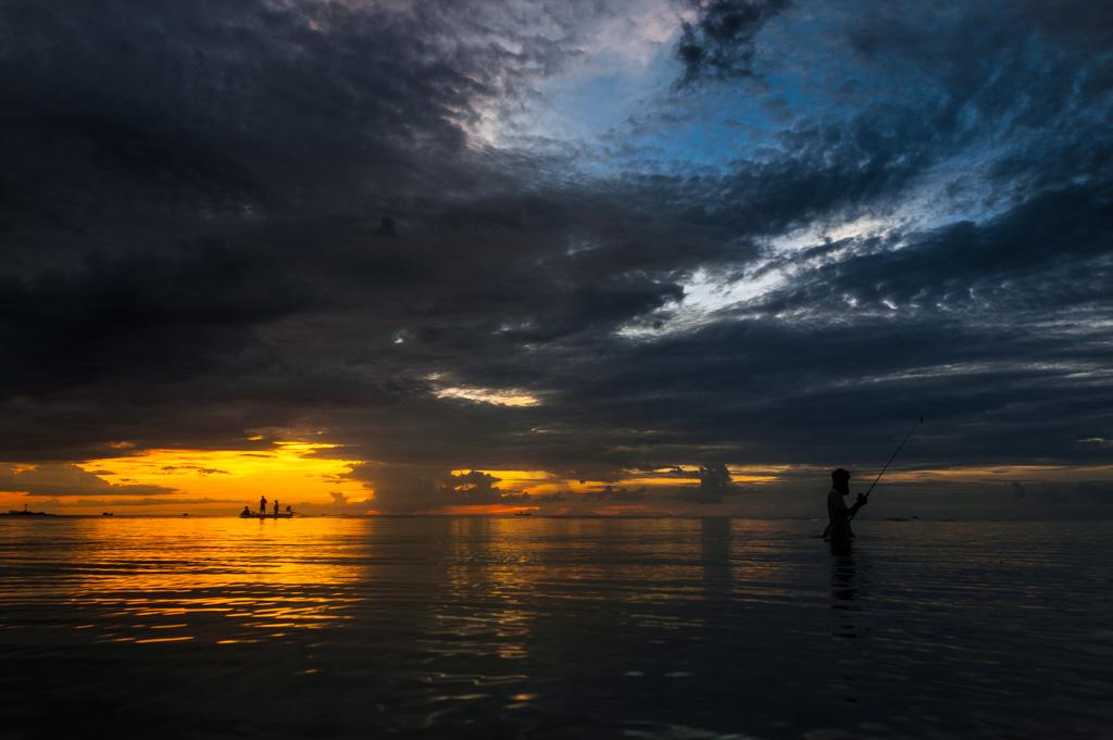 Playa de Tailandia Siluetas